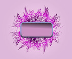 Purple Flowers Banner