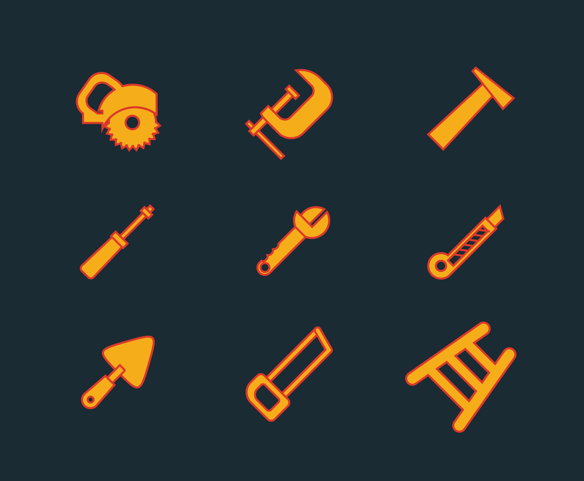 Ladder and Construction Tools Vector