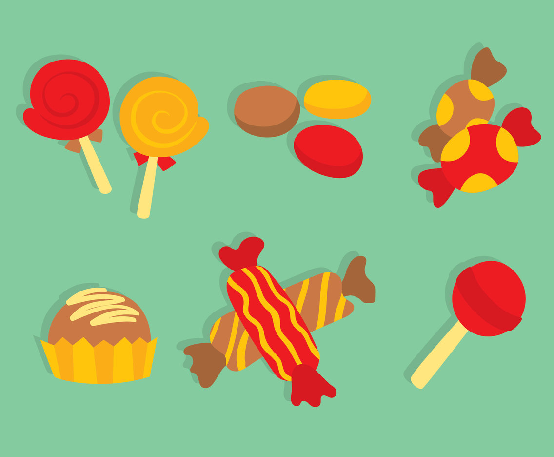 Yummy Sweet Candy Vectors