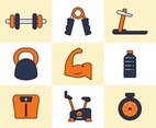 Healthy Life Icon Collection Vector