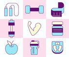 Healthy Lifestyle Icon Collection Vector