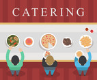 Buffet Catering Vector