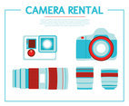 Camera Rental Kit Vector Pack