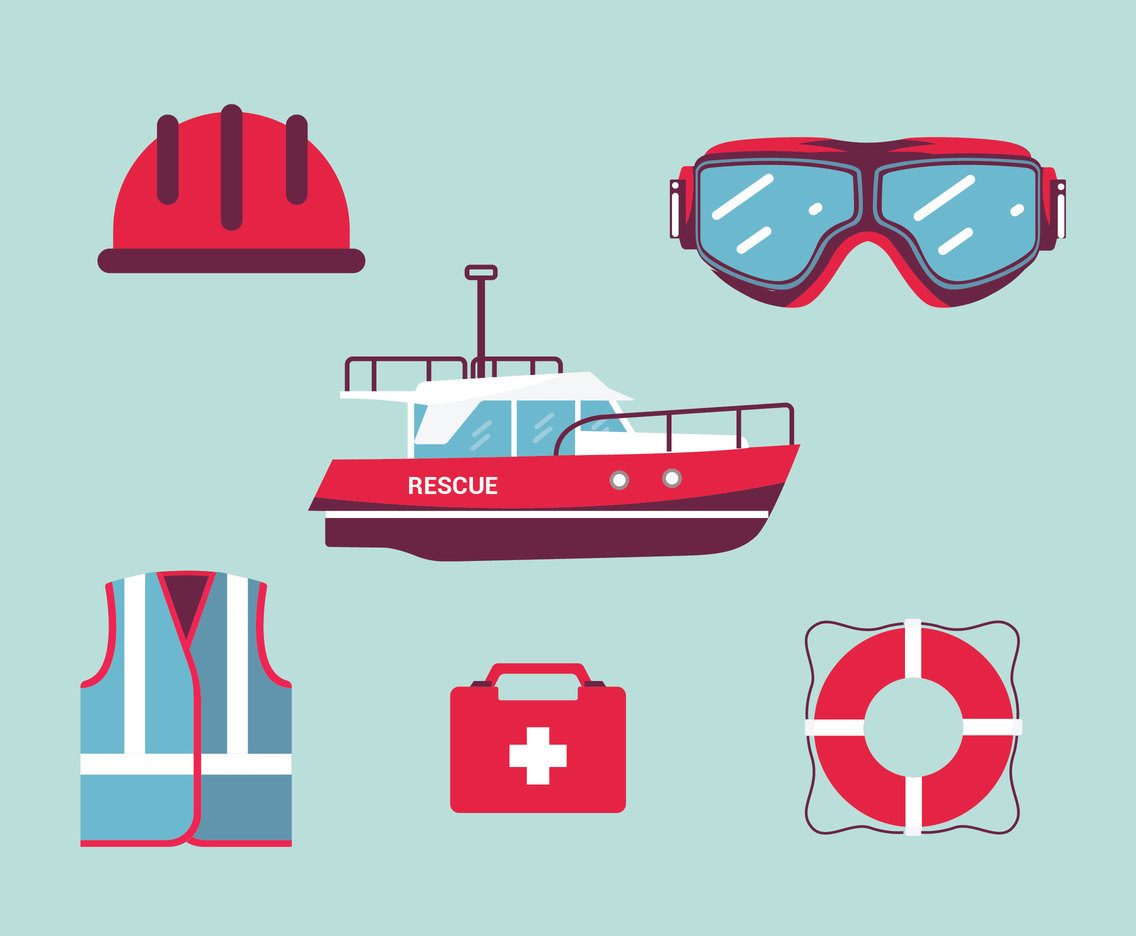 Rescue Equipment Vector Pack