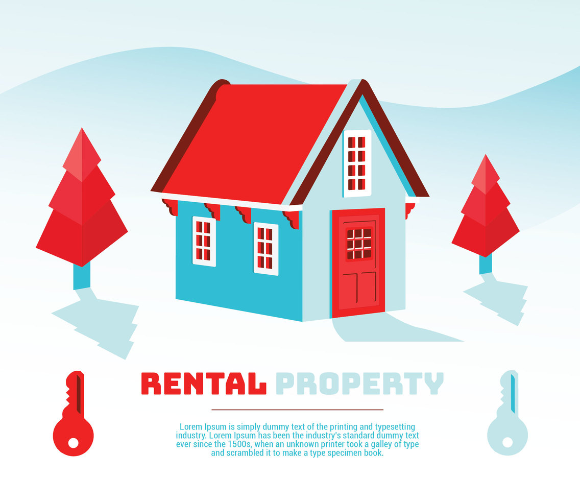 Rental Property Vector Design