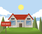 Rental House Vector