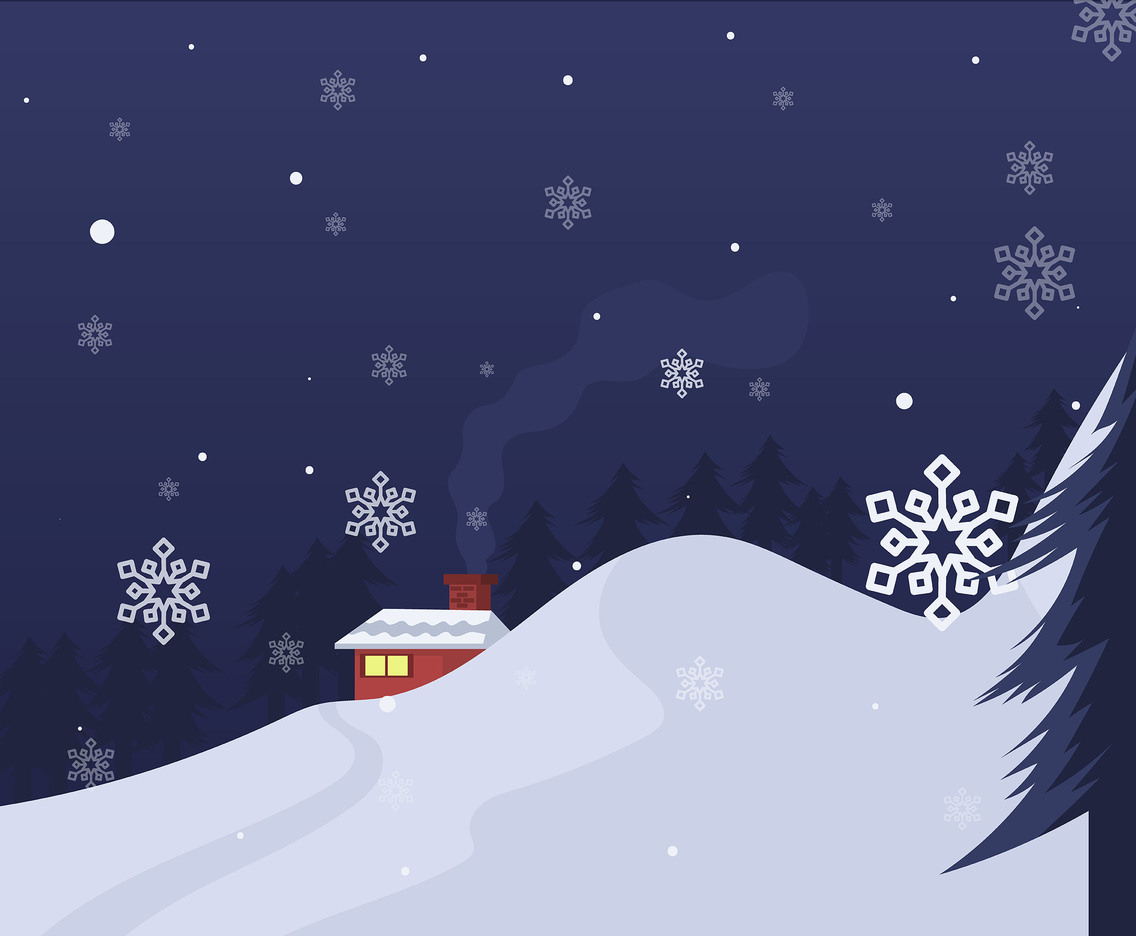 Particles of Snow Vector