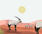 White Oryx Vector