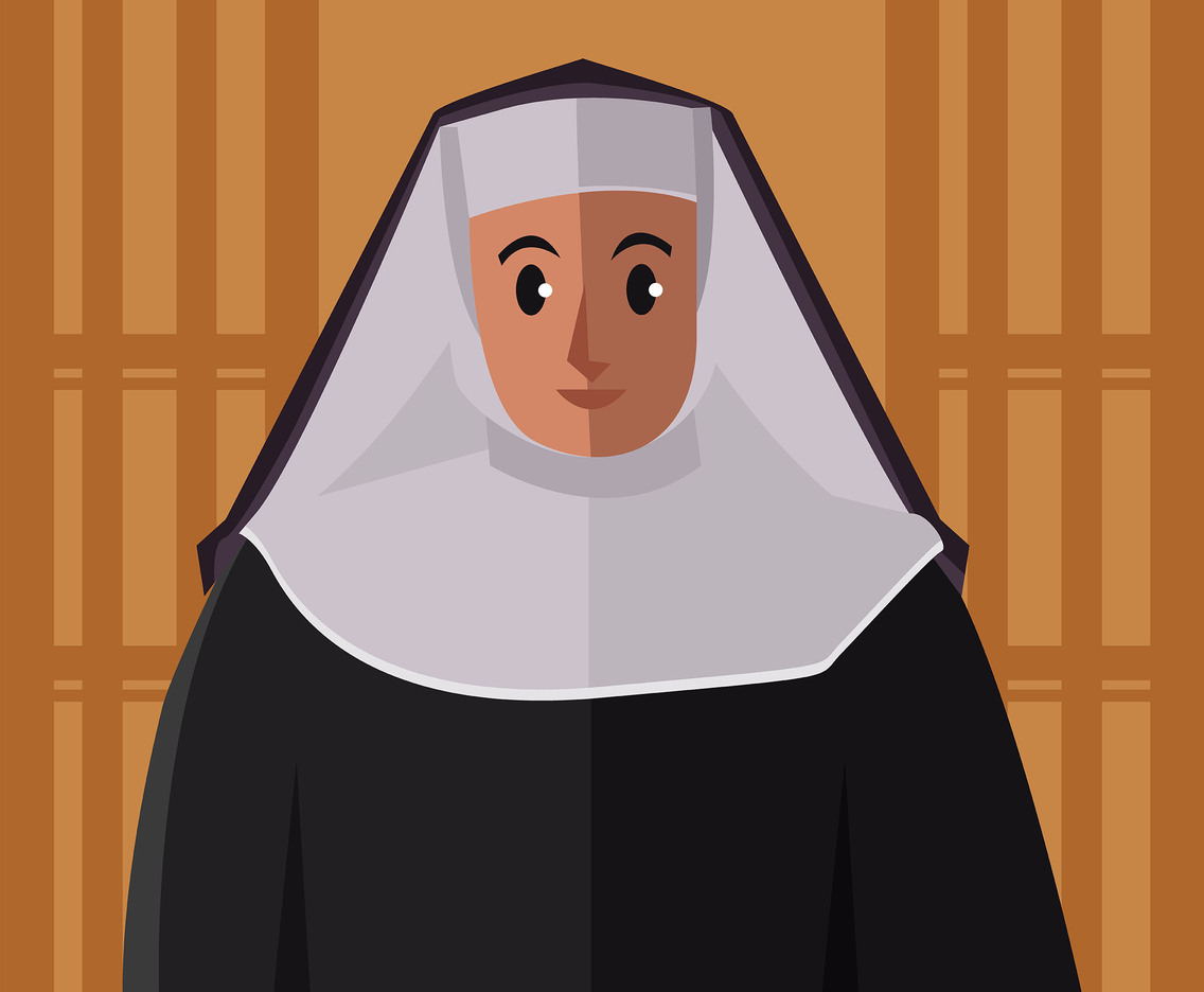Nun Illustration Vector