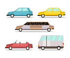 Various Cars Side View Vector