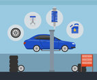 Car Repair Vector
