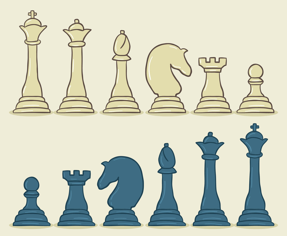 Hand Drawn Chess Pieces Vector