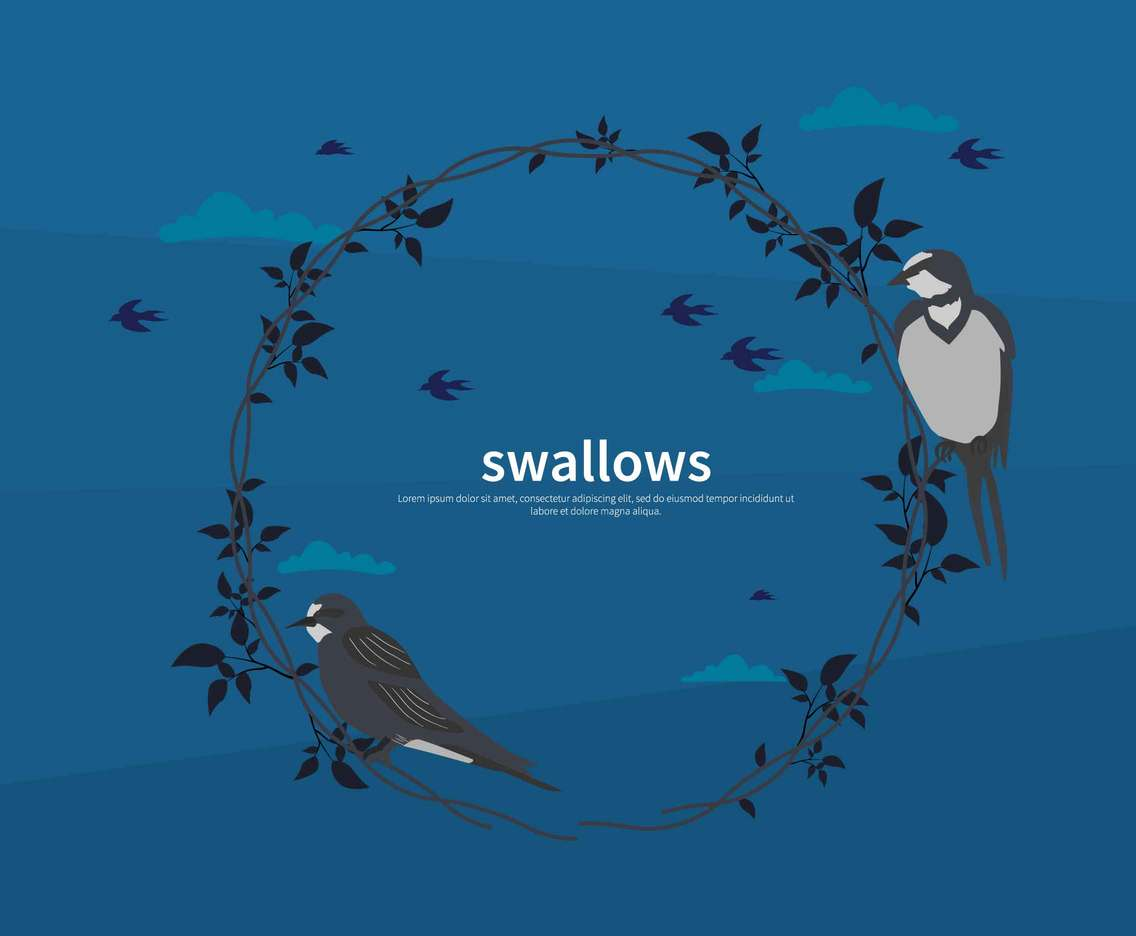 swallows With Circle Branch