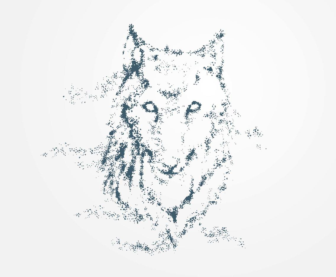 Wolf Particles Vector