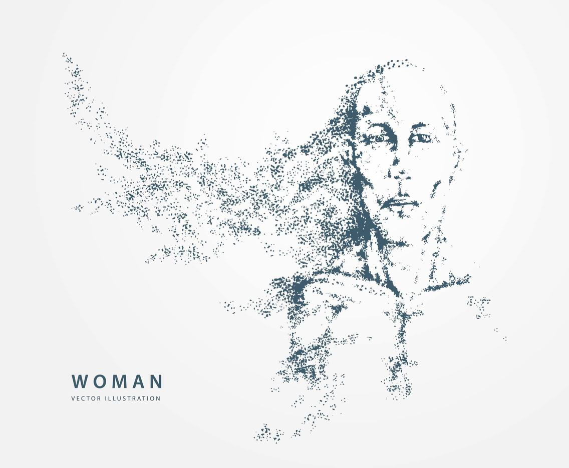Woman Particles Vector