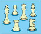 Chess Pieces Illustration Vector