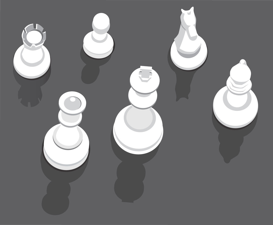 Top View Chess Pieces Vector