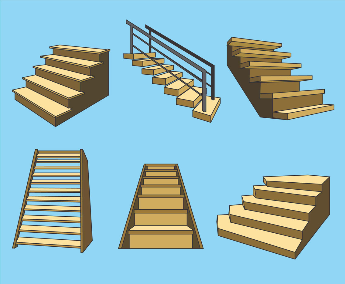 Wooden Stairs Vector