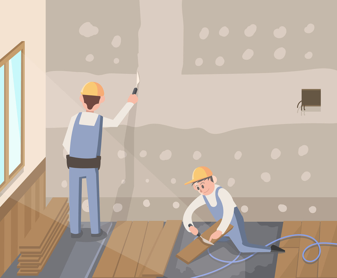 Floor and Wall Renovation Vector