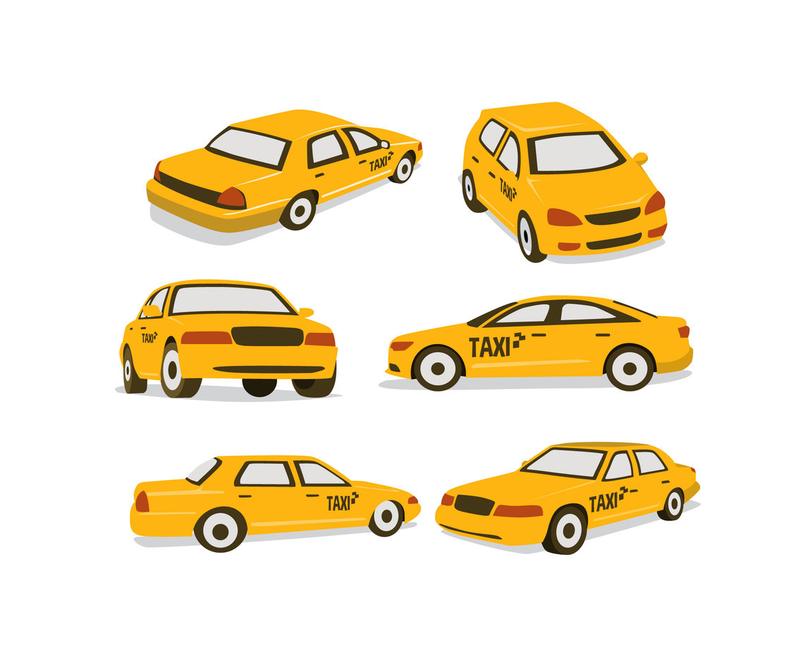 Yellow Cabs Vector