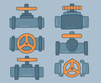 Hand Drawn Valve Collection Vector
