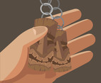Woodcarving Keychain Vector