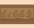 Woodcarving Flowers Vector