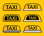 Taxi Cab Collection Vector