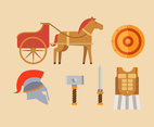 Gladiator Equipment Vector