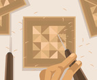 Woodcarving Vector