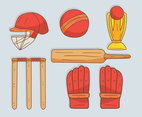 Hand Drawn Cricket Element Vector