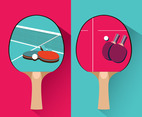 Ping Pong Bat Vector Design