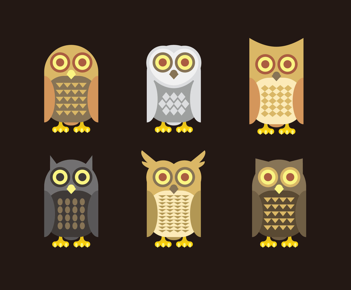 Night Owl Cartoons Vector
