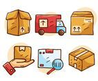 Hand Drawn Logistics Element Vector
