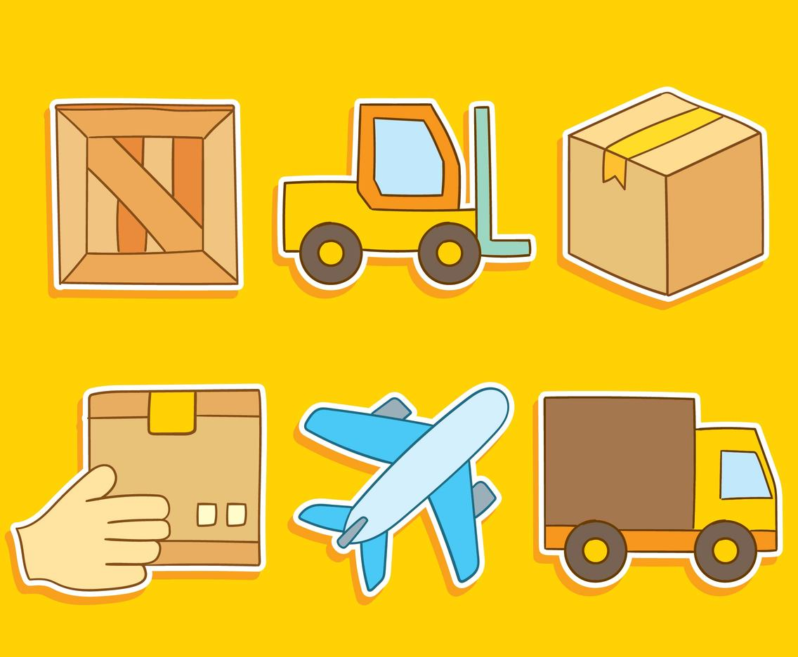 Logistics Element On Yellow Vector