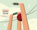 Cricket Stumps Vector Design