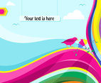 Rainbow Curves Background Vector