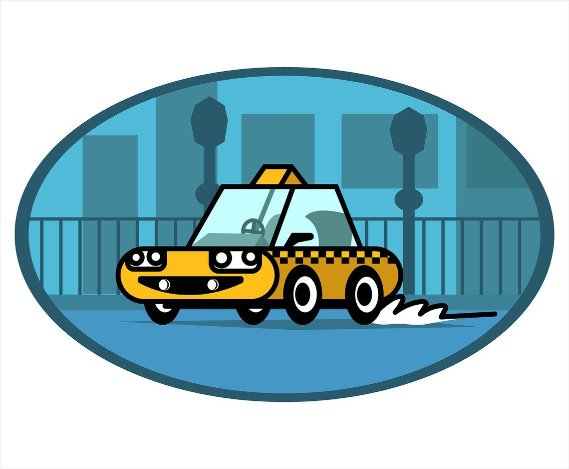 Taxi Cab Vector in Thick Lines