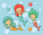 Cute Mermaid Vector