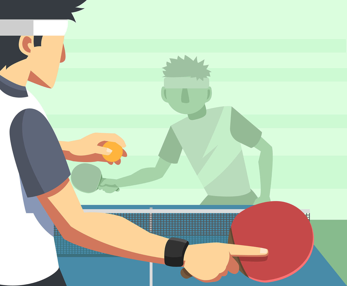 Ping Pong Serve Vector