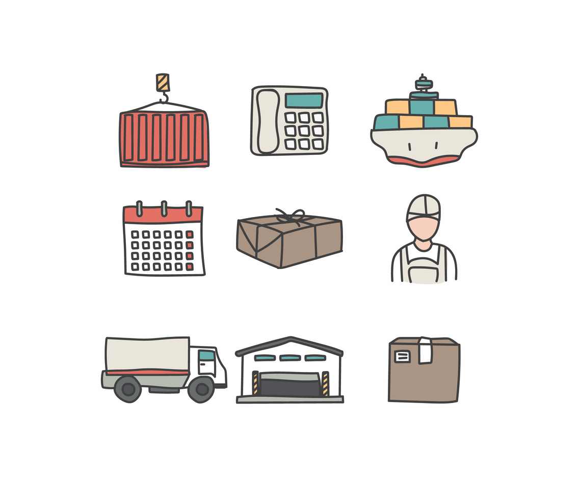 Colorful Logistics Icons