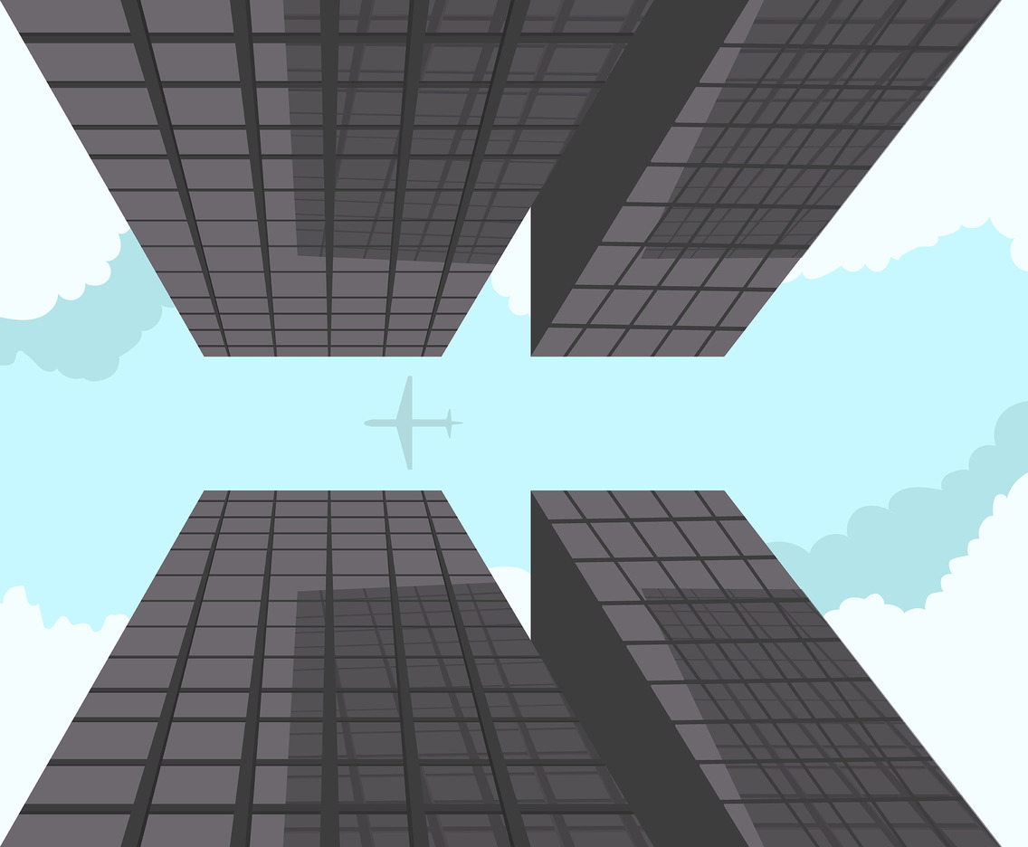 Urban Geometric Skyscraper Vector