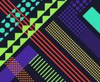 Abstract Background Colorful Retro Vector