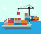 Busy Dock Vector
