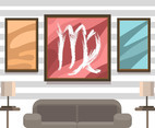 Virgo Wall Art Vector