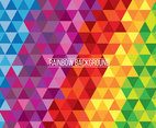 Mozaik Rainbow Background Vector