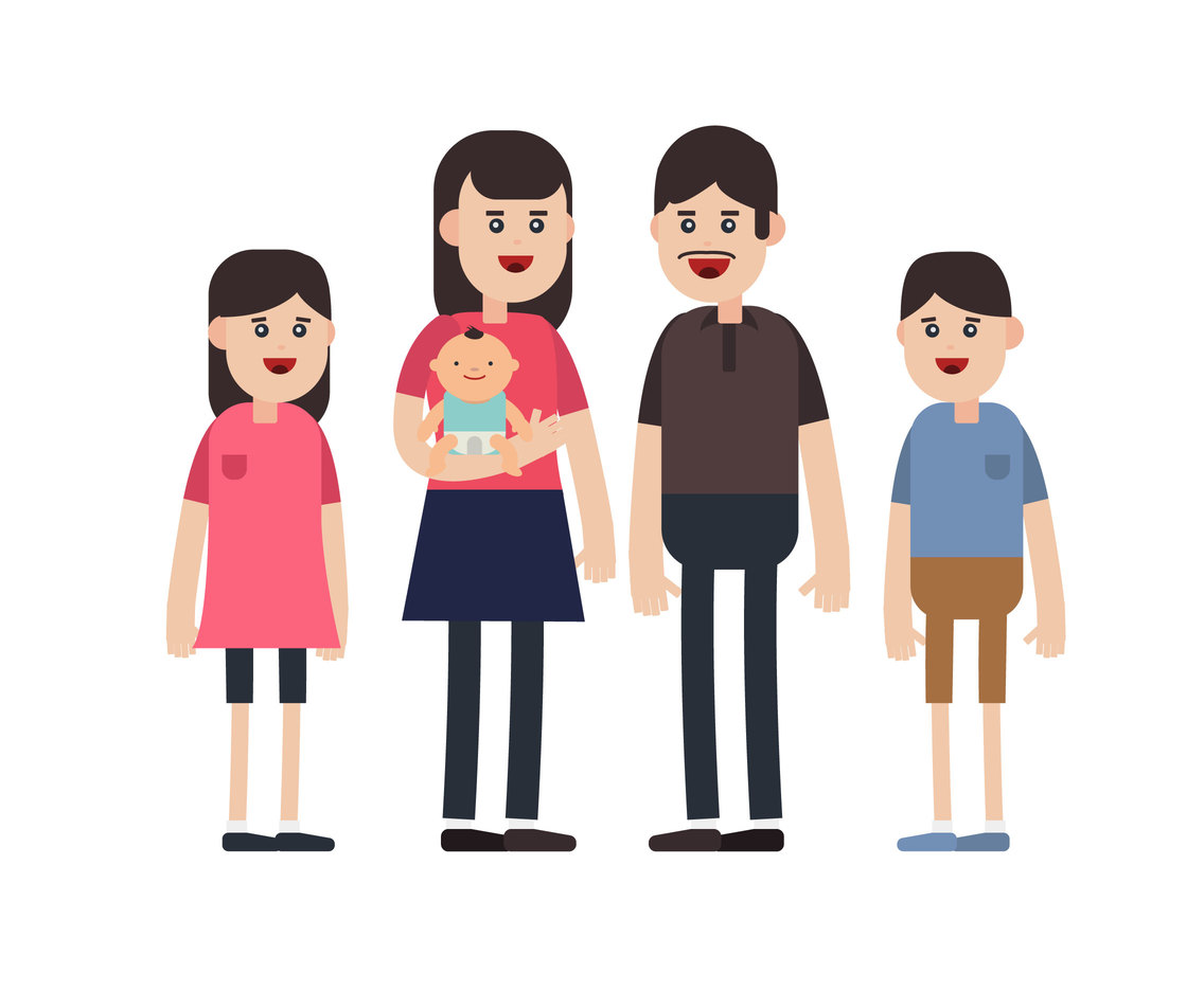 Little Family Vector