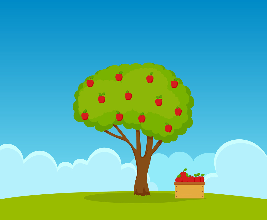 Unique Apple Tree Vectors