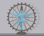 Nataraja of Shiva God Vector