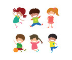 Cute Colorful Happy Kids